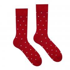 Veselé ponožky Bordový Gentleman - 43-46