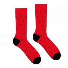 Veselé ponožky Červený Gentleman - 35-38
