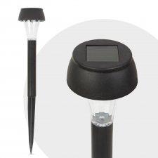 LED solárna lampa - studená biela - čierna - plast