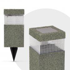 LED solárna lampa - kamenný vzor - plast