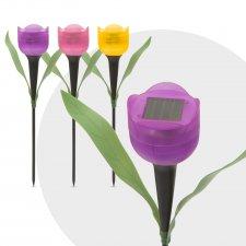 LED solárna lampa v tvare tulipánu