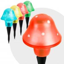 LED solárna lampa v tvare hríbu