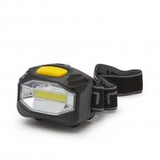 COB LED čelová lampa s vysokou svietivosťou - na batérie - 12 ks / displej