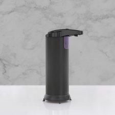 Automatický dávkovač mydla - 220 ml - voľne stojací  - na batérie - matná čierna