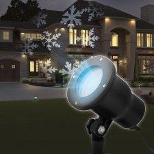 LED projektor so zapichovacím tŕňom - snehová vločka - IP44 - 240V