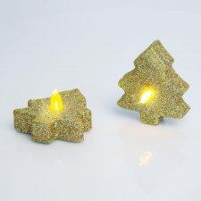 LED čajová sviečka - strom - 2 ks / balenie