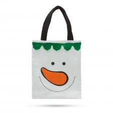 Darčeková taška - s figurkou snehuliaka