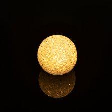 LED krištáľová snehová guľa - 6 cm