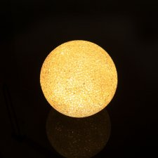 LED krištáľová snehová guľa - 8 cm