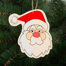 Ozdoba na vianočný strom - drevená, mikuláš - 16 x 14 cm