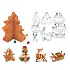 3D forma na vykrajovanie -  vianočný strom, snehuliak