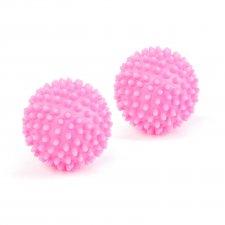 Loptičky do sušičky - 6 cm - ružové - 2 ks / balenie