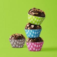 Sada muffin foriem - kockované - 100 ks / balenie