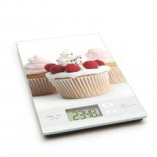 Kuchynská váha - muffin s malinami