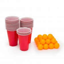 Beerpong sada - 24 ks loptičiek a pohárov