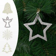 Ozdoba na vianočný strom - viac druhov - 10 cm - 2 ks / balenie