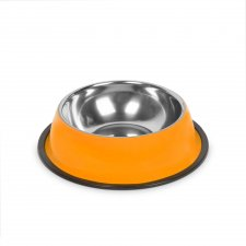 Miska pre psy - 15 cm - oranžová