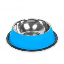 Miska pre psy - 18 cm - modrá