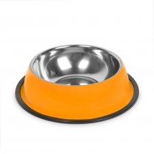 Miska pre psy - 18 cm - oranžová