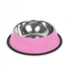 Miska pre psy - 18 cm - ružová