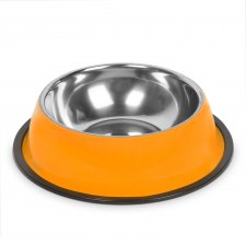Miska pre psy - 22 cm - oranžová