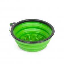 Skladacia miska - proti hltaniu - zelená - 1000 ml