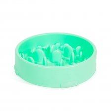 Miska pre psy - proti hltaniu - zelená