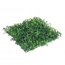 Umelý živý plot - prírodná zelená - 25 x 25 cm