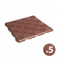 Záhradné dlaždice - terakota - plast - 5 ks / balenie