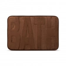 "Rohožka do kúpeľne - Rohožka do kúpeľne - ""BATH"" - hnedá - 60 x 40 cm"