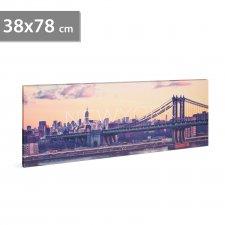 """LED obraz - """"New York"""" - 2 x AA, 38 x 78 cm"""