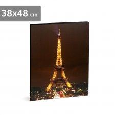 """LED obraz - """"Eiffelova veža"""" - 2 x AA, 38 x 48 cm"""