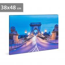 """LED obraz - """"Reťazový most """" - 2 x AA, 38 x 48 cm"""