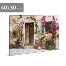 """LED obrázok - """"Ulica"""" - 2 x AA, 40 x 30 cm"""