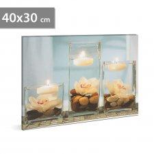 "LED obraz - ""Wellness"" - 2 x AA, 40 x 30 cm"