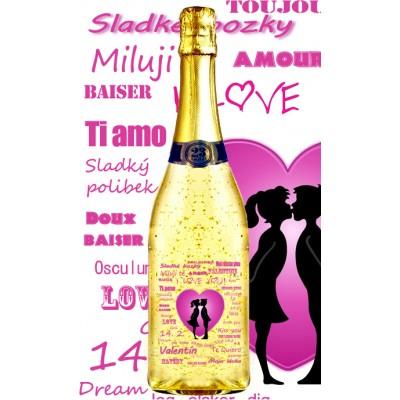 Zlaté šumivé 0,75 l Valentine 2