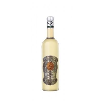 20 Rokov Darčekové víno Biele Kovová etiketa