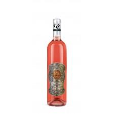 20 rokov Darčekové víno ružové - kovová etiketa