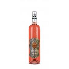 20  Rokov - Darčekové Ružové so zlatom  0,7  Kovová etiketa