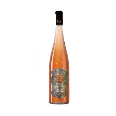 (0-90) rokov  Darčekové Ružové so zlatom  0,7  Kovová etiketa