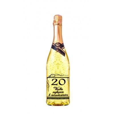 20 rokov Gold Cuvee šumivé so zlatom
