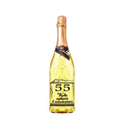 55 rokov Gold Cuvee šumivé so zlatom