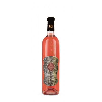 Darčekové Ružové so zlatom  0,7  Kovová etiketa