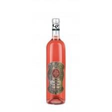 Darčekové víno ružové - kovová etiketa