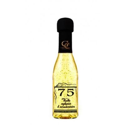 Zlaté šumivé 0,2 l Narodeniny 75
