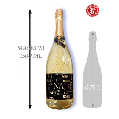 1,5  L Gold Cuvee šumivé víno so zlatom Najlepší šéf