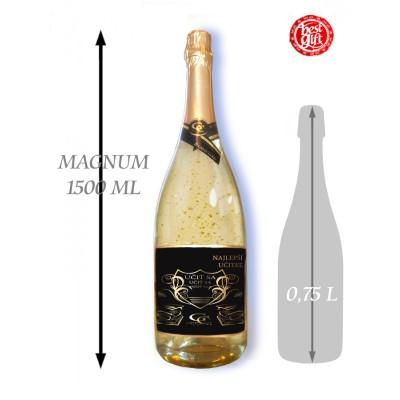 1,5  L Gold Cuvee šumivé víno so zlatom Najlepší učiteľ