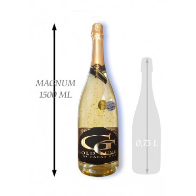 1,5  L Gold Cuvee šumivé so zlatom