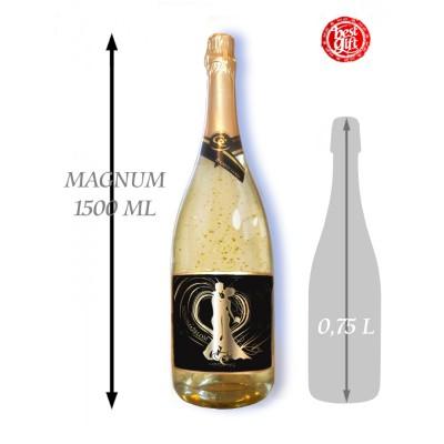 1,5  L Gold Cuvee šumivé víno so zlatom Novomanželom