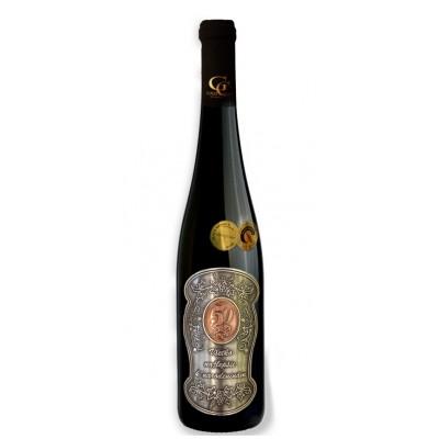 0,75 L Darčekové víno Červené Renana Kovová etiketa 50 rokov